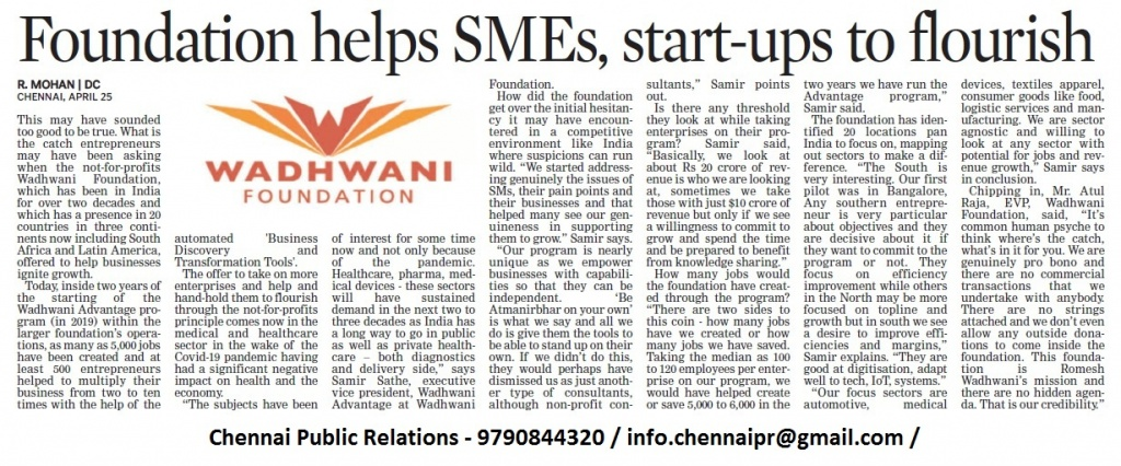 Deccan Chronicle Feature Story WA Health